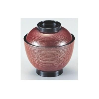 小吸椀 3.5寸玉子椀赤刷毛目梨地 漆器 高さ73 直径:101/業務用/新品