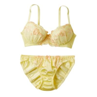 キュートカラーレースブラジャー・ショーツセット(A65/M) (ブラジャー&ショーツセット)Bras & Panties