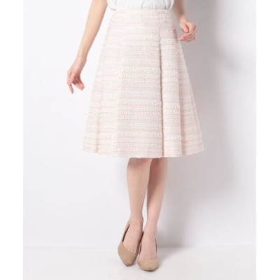 MISS J/ミス ジェイ ファンシーツィード スカート ピンク 42