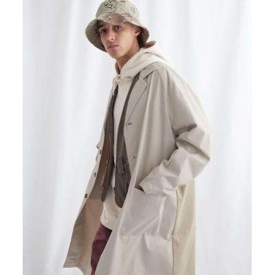 EMMA CLOTHES / マルチファブリック 背面切替 オーバーサイズスプリングコート【EMMA CLOTHES/エマクローズ】2021SPRING MEN ジャケット/アウター > チェスターコート