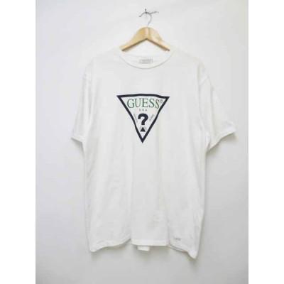 【中古】ゲス GUESS グリーンレーベル トライアングル ロゴ Tシャツ GRFW17-001【ブランド古着ベクトル】200903 104 メンズ 【ベクトル 古着】