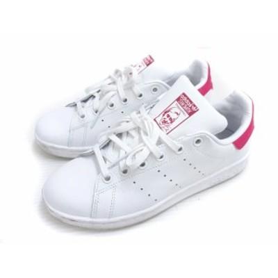 【中古】アディダス adidas STAN SMITH スタンスミス スニーカー B32703 シューズ 靴 22.5 白 ホワイト ピンク