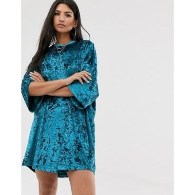 エイソス レディース ワンピース トップス ASOS DESIGN velvet t shirt dress