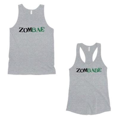 ユニセックス 衣類 トップス Zombae And Zombabe Matching Couple Tank Tops Grey タンクトップ
