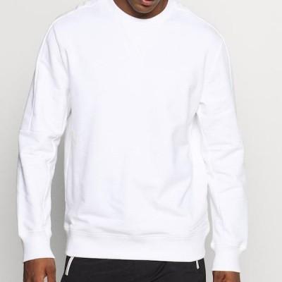 プーマ メンズ スウェット HOOPS CREW - Sweatshirt - white