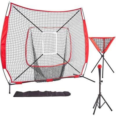 KMX ティーネット 野球 室内野球 ネット ティーバッティング ボール受けネット ボール収集 野球 練習用 バッティング ティー 五点セット練習用