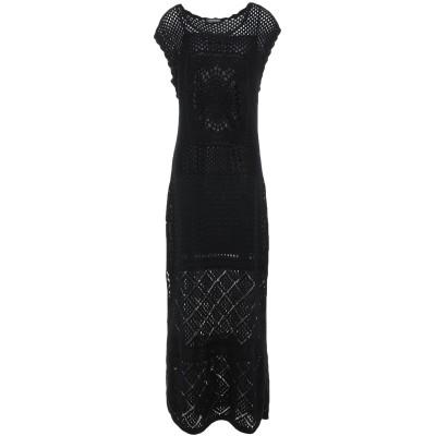 ツインセット シモーナ バルビエリ TWINSET ロングワンピース&ドレス ブラック XL ポリエステル 100% ロングワンピース&ドレス