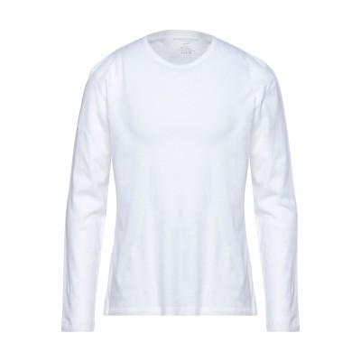 マジェスティック MAJESTIC FILATURES T シャツ ホワイト L コットン 85% / カシミヤ 15% T シャツ
