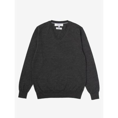 【アウトレット】イタリアンウール Vネックセーター【CAFE SOHO】