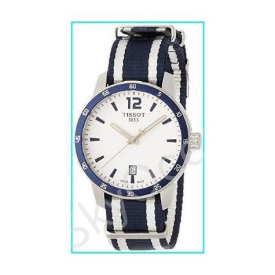 Tissot Men's Quickster Stainless Steel Quartz Watch with Nylon Strap, White, 18 (Model: T0954101703701)【並行輸入品】