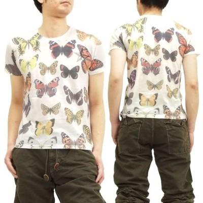 スタースター StarStar 半袖Tシャツ バタフライ 蝶々 総柄 LA0005 オフ白 新品
