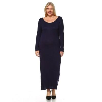 ホワイトマーク ワンピース トップス レディース Women's Plus Size Ria Dress Navy