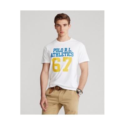 【ポロ ラルフ ローレン】 カスタム スリム フィット ジャージー グラフィック Tシャツ メンズ 100ホワイト M POLO RALPH LAUREN