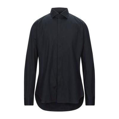CELLINI シャツ ブラック 38 コットン 96% / ポリウレタン 4% シャツ