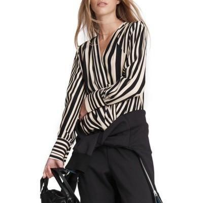 ラグ&ボーン RAG & BONE レディース ブラウス・シャツ トップス Lei Stripe Silk Blouse Gold Stripe