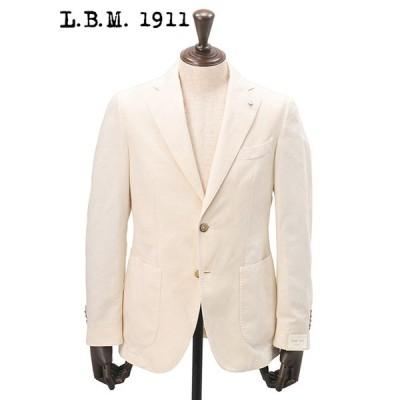 ジャケット 春 夏 メンズ Men's 40代 50代 L.B.M 1911 エルビーエム シングル アイボリー コットンリネン 2B 国内正規品