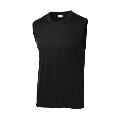 Joe's USA Men's Sleeveless Athletic Tee Shirt, 4X-Large, Black