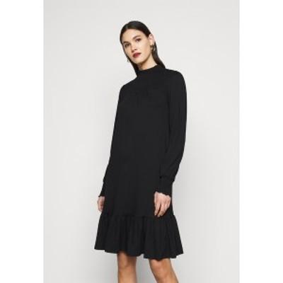 ドロシー パーキンス レディース ワンピース トップス BLACKSHIRRED DRESS - Jersey dress - black black