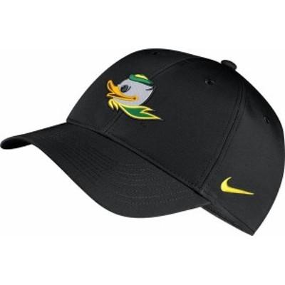 ナイキ メンズ 帽子 アクセサリー Nike Men's Oregon Ducks Legacy91 Adjustable Black Hat -