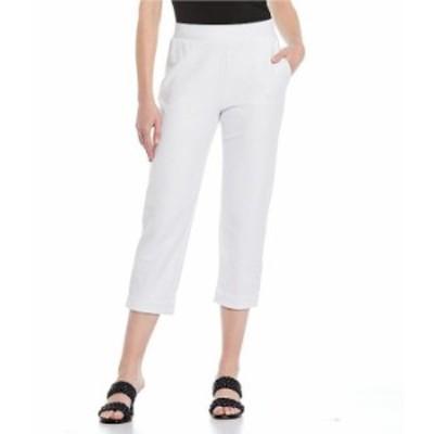 マイケルコース レディース カジュアルパンツ ボトムス MICHAEL Michael Kors Stretch Knit Twill Pull-On Roll Cuff Crop Pants White