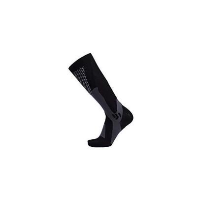 サッカーソックス男女マラソンアウトドアスポーツソックス大人用圧縮ソックス Taodeli (黒, L/XL)