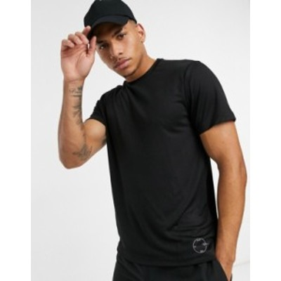 トップマン メンズ シャツ トップス Topman GYM signature t-shirt Black