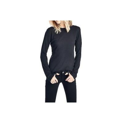 海外セレクション トップス ブラウスNEXT LEVEL レディース THERMAL PREMIUM 長袖 Tシャツ BASIC SOLID ブラック 'M'