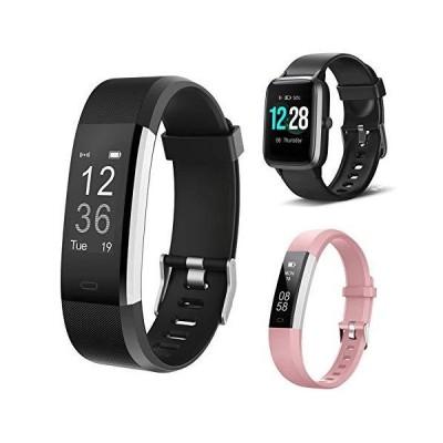 LETSCOM Fitness Tracker ID115Plus HR,Bundle with Smart Watch ID205L and Fitness Tracker ID115UHR(3 Items)【並行輸入品】