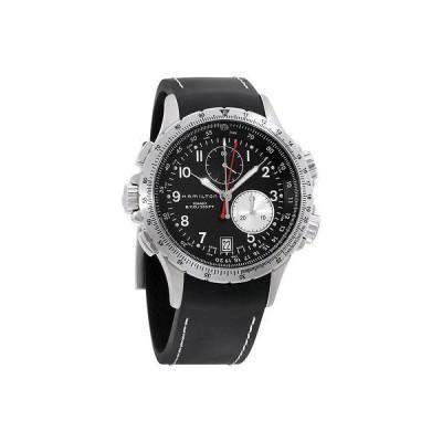 Hamilton ハミルトン メンズ H77612333 カーキ ETO ブラック クロノグラフ ダイヤル 腕時計