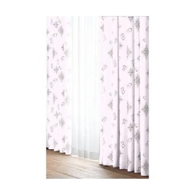 ユニベール カーテンアリッサPI/W100XH135cm2P 巾100cm×丈135cm