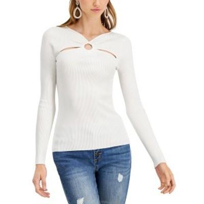 アイエヌシーインターナショナルコンセプト レディース ニット&セーター アウター INC O-Ring Cutout Ribbed Sweater, Created for Macy'