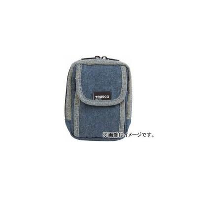 トラスコ中山 デニム携帯電話用ケース 2ポケット ブルー TDC-H101(7689900)