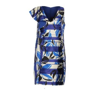 HH COUTURE ミニワンピース&ドレス ブルー L 100% ポリエステル ミニワンピース&ドレス