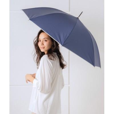 macocca / 完全遮光晴雨兼用 ジャンプ傘 makez.マケズ 無地パイピング WOMEN ファッション雑貨 > 長傘