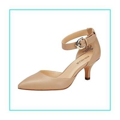 JENN ARDOR Women's Kitten Heel Pumps Ladies Closed Pointed Toe D'Orsay Ankle Strap Dress Stiletto, Natural, 8.5 (9.9in)【並行輸入品】