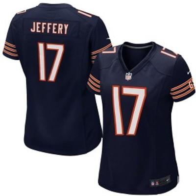 ナイキ レディース Tシャツ トップス Alshon Jeffery Chicago Bears Nike Women's Game Jersey Navy Blue