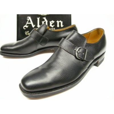 Alden(オールデン)メンズ旧ロゴ ビンテージデッドストック (MONK STRAP SHOES)モンクストラップシューズサイズ9.5A(26-26.5cm)カーフレザ