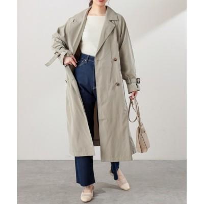 natural couture / 【WEB限定カラー有り】キャンディースリーブロングトレンチコート WOMEN ジャケット/アウター > トレンチコート