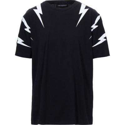 ニール バレット NEIL BARRETT メンズ Tシャツ トップス T-Shirt Black