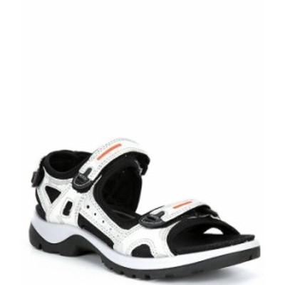 エコー レディース サンダル シューズ Offroad Suede Leather Hook-and-Loop Banded Sandals White