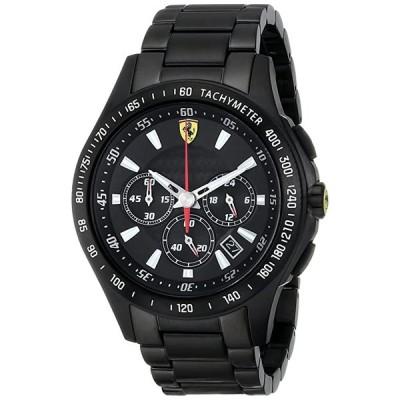 フェラーリ Ferrari メンズ 0830046 Scuderia アナログ ディスプレイ クオーツ ブラック ウォッチ(海外取寄せ品)