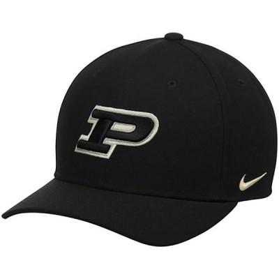 ユニセックス スポーツリーグ アメリカ大学スポーツ Purdue Boilermakers Nike Wool Classic Performance Adjustable Hat - Black - OS