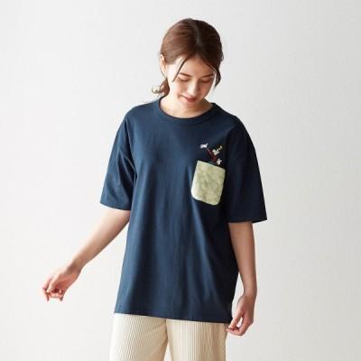 ディズニー プリント柄ポケット付きTシャツ(選べるキャラクター) グーフィー SS S M L LL