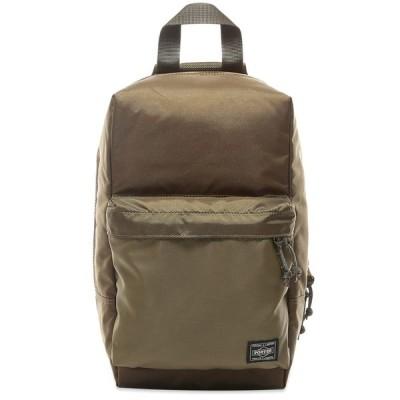 吉田カバン Porter-Yoshida & Co. メンズ ショルダーバッグ バッグ Force Sling Shoulder Bag Olive