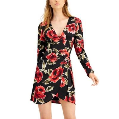バースリー レディース ワンピース トップス Printed Faux-Wrap Dress
