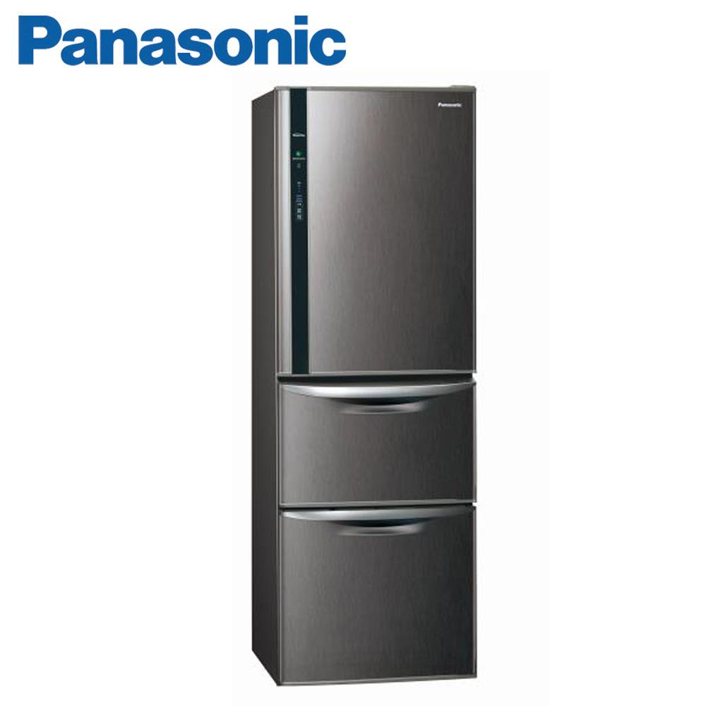(快倉)Panasonic國際牌385公升ECONAVI系列變頻三門冰箱(NR-C389HV-V)(絲紋黑)