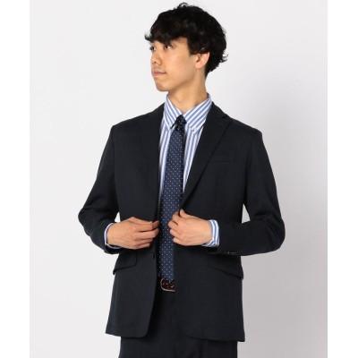 (GLOSTER/グロスター)バーズアイウォッシャブルスーツジャケット/メンズ ダークネイビー