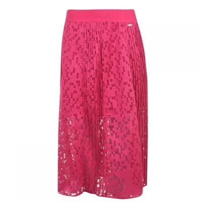 アルマーニ Armani Exchange レディース ひざ丈スカート スカート AX Net Midi Skirt Bubble Gum