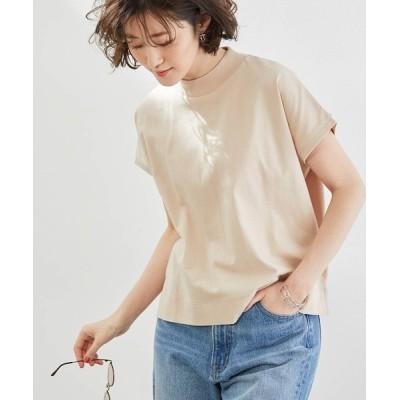 ROPE' PICNIC / 【ラク美Tee】【TRUE COTTON】モックネックフレンチトップス WOMEN トップス > Tシャツ/カットソー
