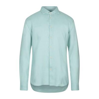 ドルモア DRUMOHR シャツ ライトグリーン XL リネン 100% シャツ